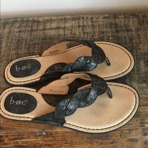 b.o.c. Black Sandals